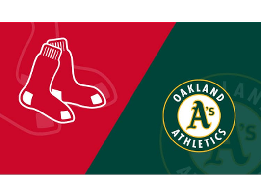 4 TICKETS - RED SOX VS OAKLAND!