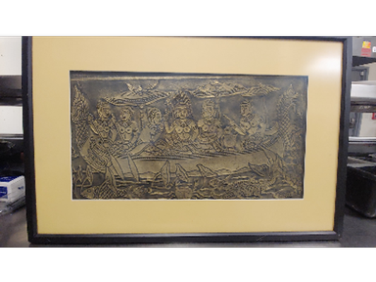 Rare Temple Rubbing from Nepal