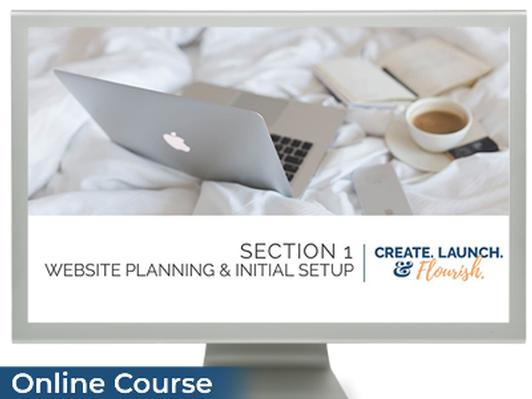 Create. Launch. & Flourish - DIY Website eCourse