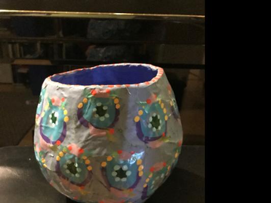Papier-mâché bowl