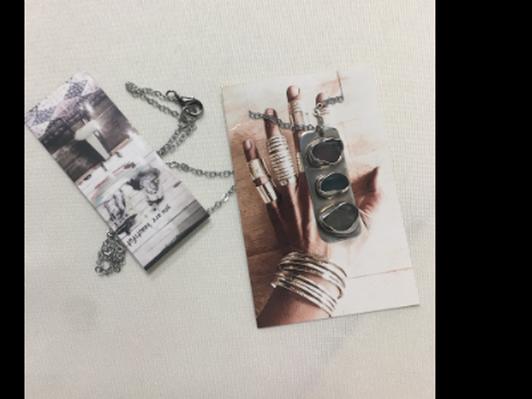 Loving Anvil Sea Glass Necklace
