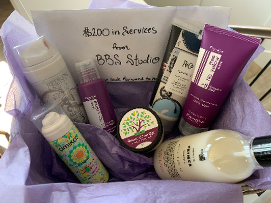$200 Hair Service Gift Certificate and Basket of Salon Products