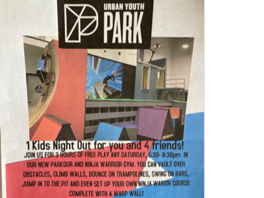 Urban Youth Park - Kids Night Out For 4