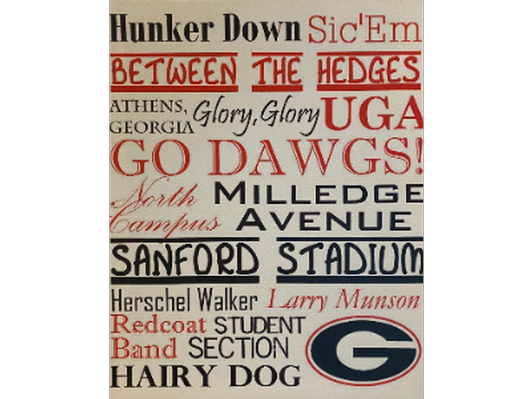 Georgia Bulldogs Canvas