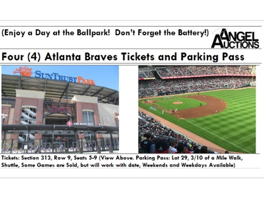 4 Atlanta Braves Tickets and Parking Pass