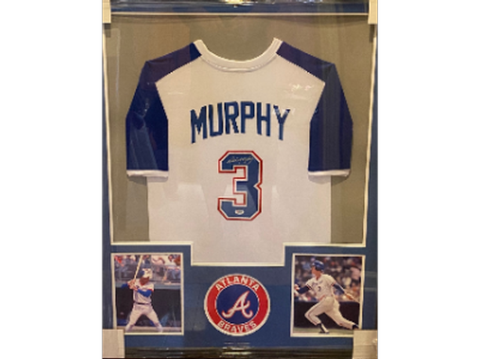 Atlanta Braves Dale Murphy Signed Framed Jersey