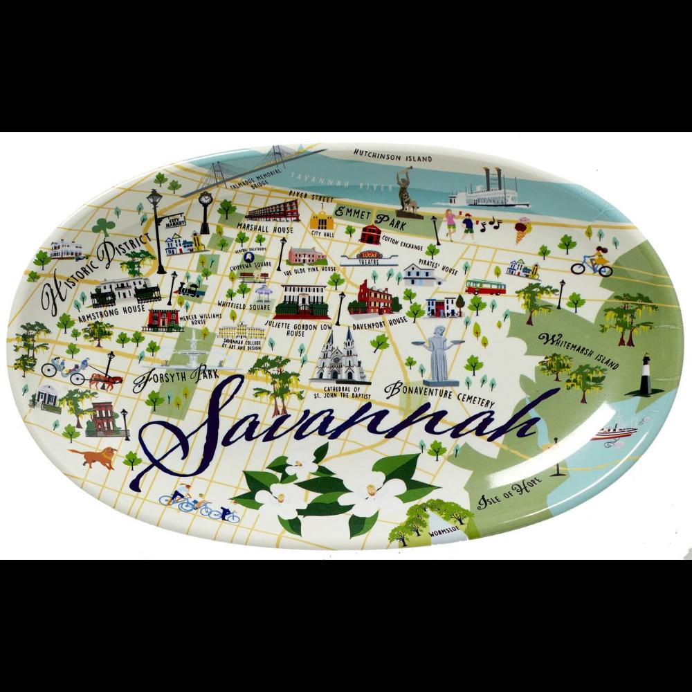 Historical Savannah Melamine Platter