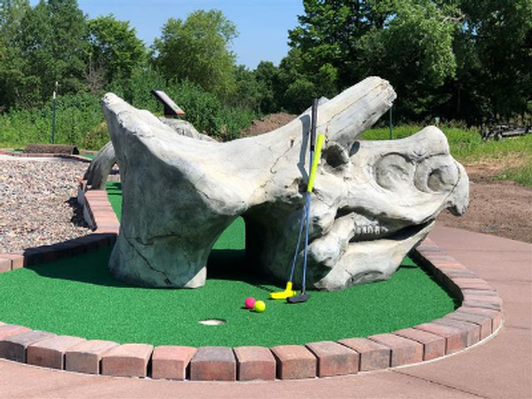 Golf with Dinosaurs