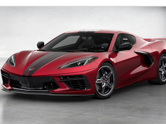 A Chauffeured Ride in a new 2020 C8 Corvette