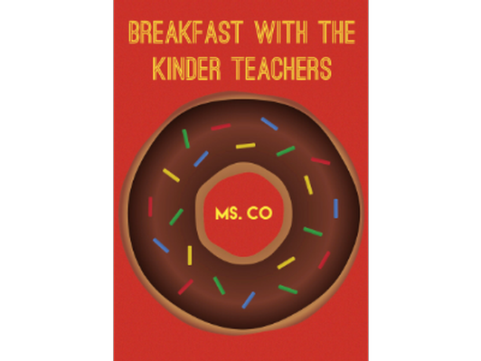 Breakfast with the Kinder Teachers - Ms. Co