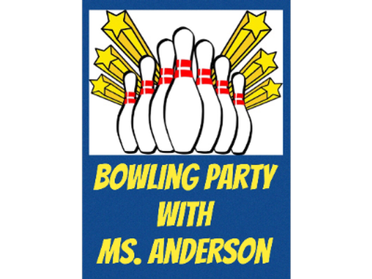 Bowling with the Third Grade Teachers - Ms. Anderson