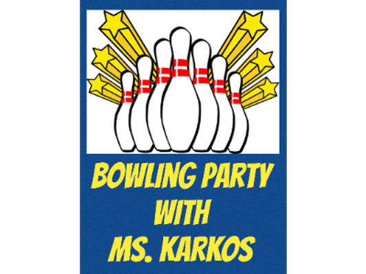 Bowling with the Third Grade Teachers - Ms. Karkos