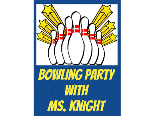 Bowling with the Third Grade Teachers - Ms. Knight
