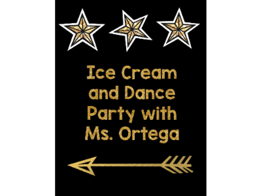 After School Ice Cream Social and Dance Party - Ms. Ortega