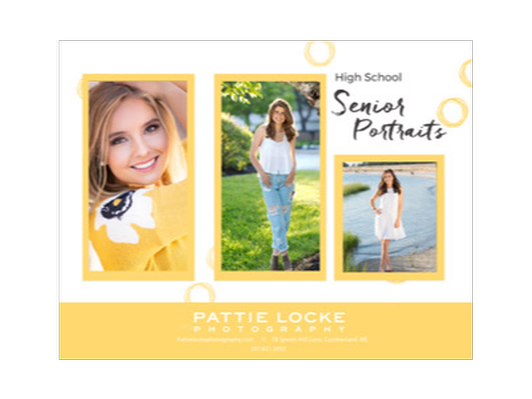 SENIOR PORTRAIT SESSION - $300 Gift Certificate with Pattie Locke Photography