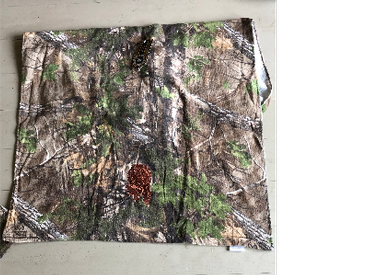 Camo Beach Towel, Embroidered with Boykin Head