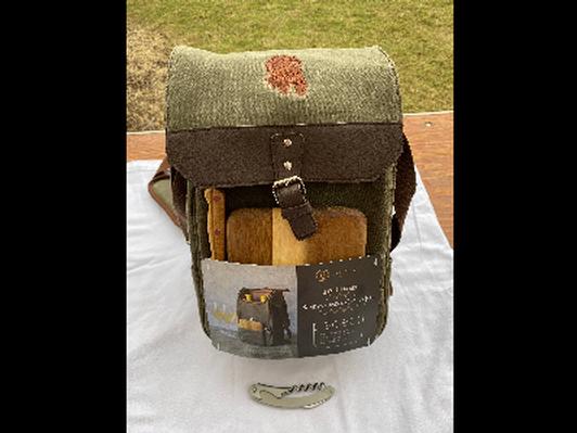 Waxed Canvas Wine & Cheese Bag