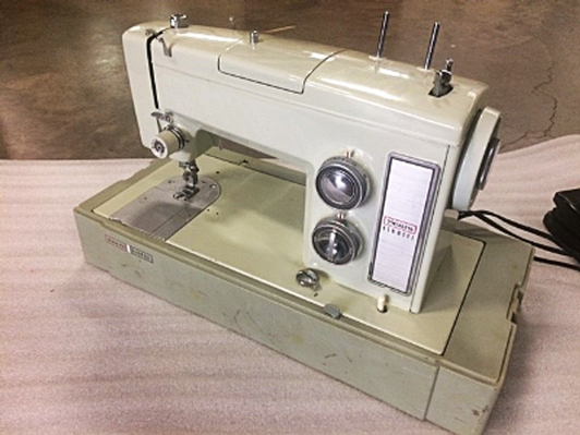 Vintage Olive-Green Sears Kenmore Sewing Machine