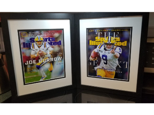 Framed Joe Burrow Sport Illustrated Covers