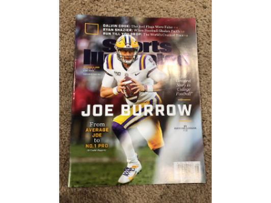 Joe Burrow December 2 2019 Sports Illustrated