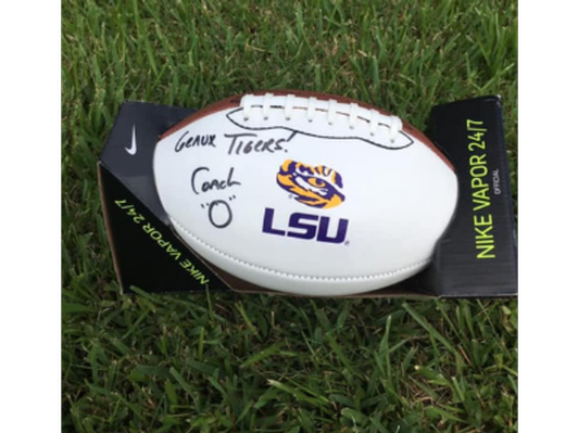 Coach O Signed Football