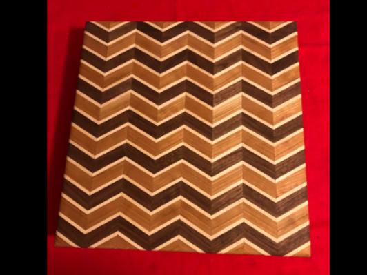 Handmade Cutting Board #1 Chevron