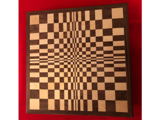 Handmade Cutting Board #2 3D Checker