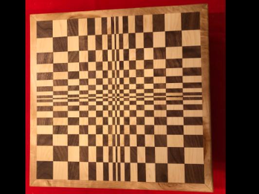 Handmade Cutting Board #3 3D Checker