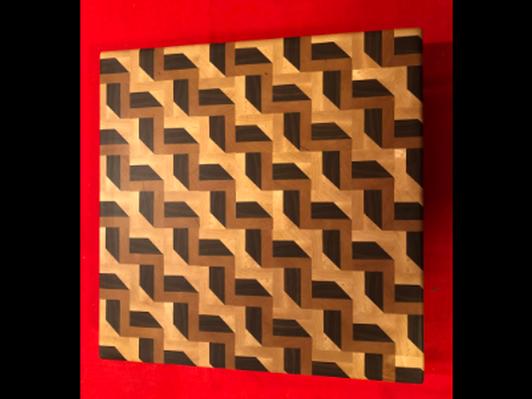 Handmade Cutting Board #4 3D Stair
