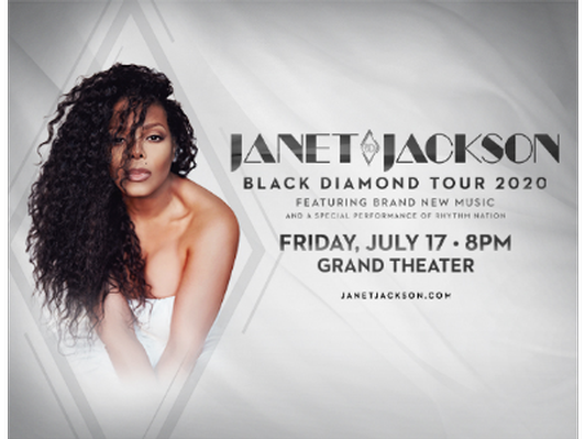 Foxwoods Bundle - Janet Jackson Tickets, Over Night Stay and $100 Gift Card