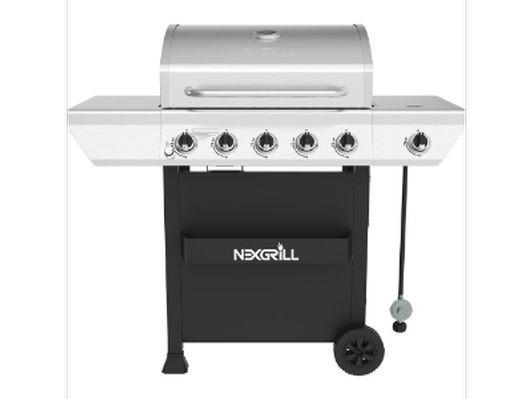 Nexgrill 5-Burner Propane Gas Grill, $50 Omaha Gift Card and  and BBQ Grill Tool Set