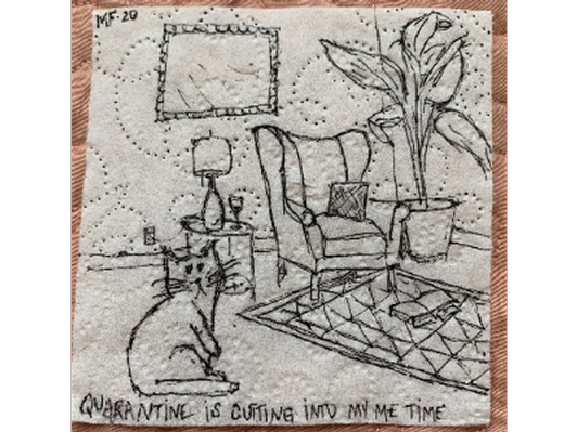 Quarantine Cat, Artist: Mamie Fain