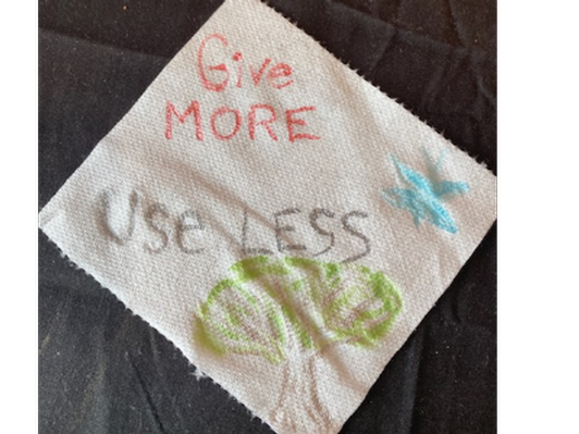 Give More > Use Less, Artist: Jenna Jaffe