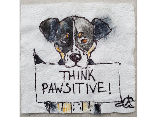 Stay Pawsitive, Artist: Angela Cloud
