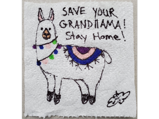 Save Your Grandllama, Artist: Angela Cloud