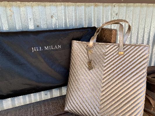 Jill Milan Vegan Quilted Tote Bag
