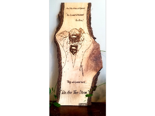 Healthcare Hero Pyrography Art