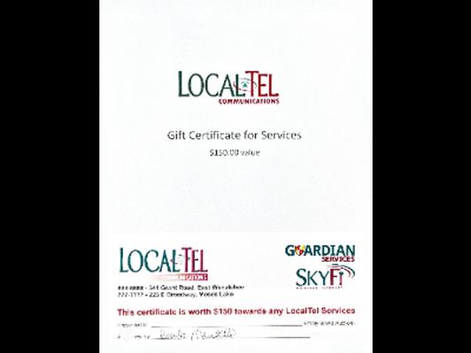 LocalTel $150 Gift Certificate
