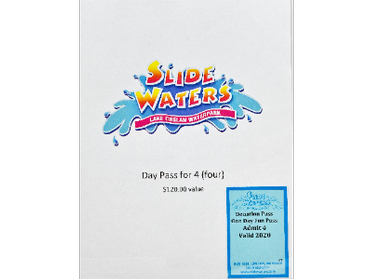 Slide Waters day pass for 4