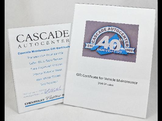 Cascade Auto Service - Vehicle Maintenance Package