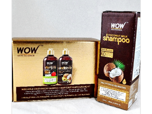 WOW ! Haircare - Vegan Beauty for your lifestyle.  Coconut hair shampoo; Apple Cider Vinegar shampoo; Conditioner with Coconut and Avocado oils.