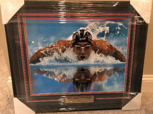 Michael Phelps Framed Photograph