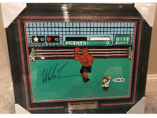 Mike Tyson Autographed Illustration