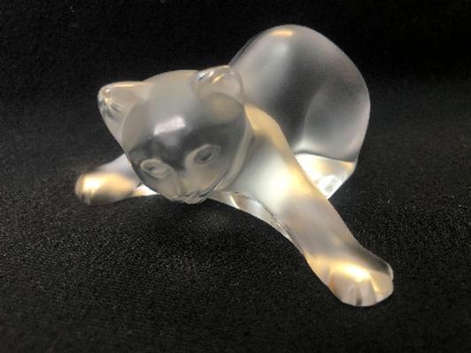 Lalique France Crystal Cat