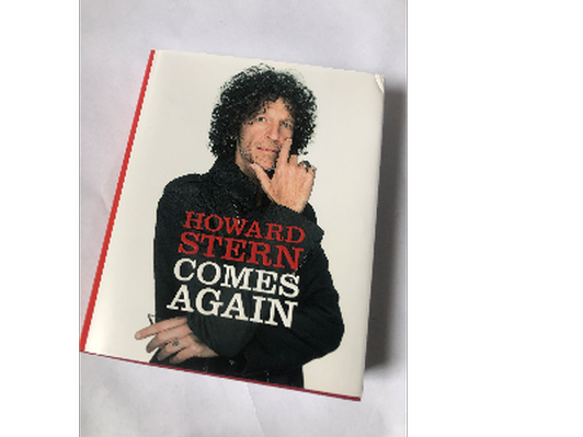 """""""Howard Stern Comes Again"""" Book Autographed by Howard Stern"""