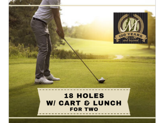 18 holes w/ cart & lunch for Two