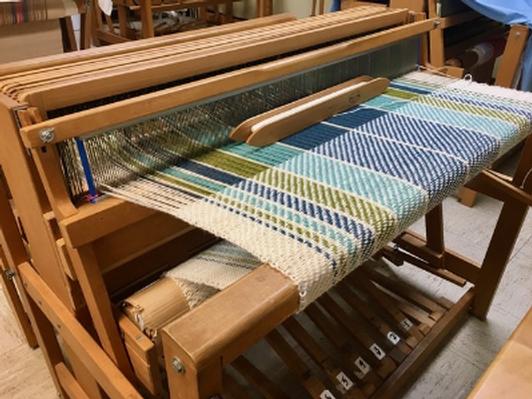 Handwoven blanket from Joy Kleeman