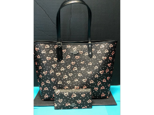 Coach Reversible City Tote & Matching Wallet