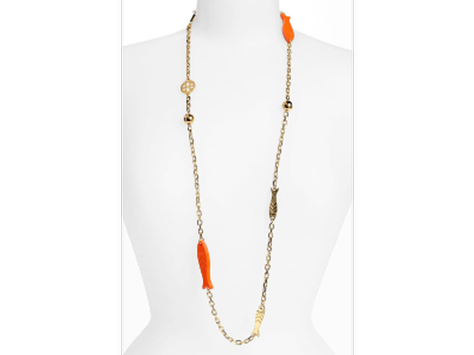 """Tory Burch """"Emerson"""" long station necklace"""