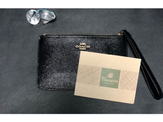 Coach Wristlet and Panera Bread Gift Card